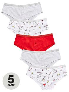 v-by-very-girls-5-pack-christmas-llama-shorties