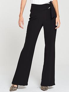v-by-very-ring-detail-flare-trouser-black
