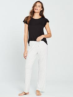 v-by-very-geometric-pyjama-bottoms-and-tee-set-creamblack