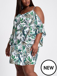 ri-plus-river-island-plus-size-cream-print-swing-dress