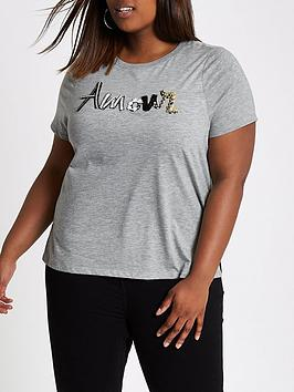 Clearance Pre Order Clearance Affordable Appliqu RI  Amour T Plus shirt  nbsp Grey JssXbpY