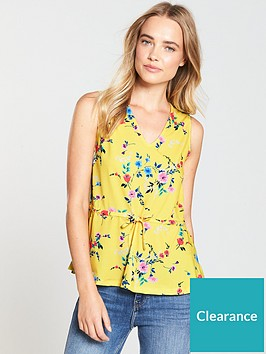 v-by-very-sleeveless-top-yellow-print