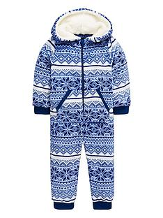 mini-v-by-very-christmas-snowflake-fairisle-fleece-all-in-one-with-borg-lined-hood