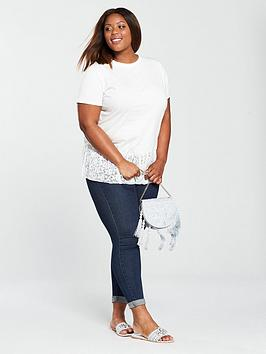 Lace  V Very Curve Pleat by Shirt Hem Ivory T Find Great Cheap Online Professional  Outlet Excellent Geniue Stockist Sale Online Best Prices Cheap Online rdAvWQNw