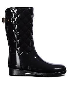 hunter-hunter-refined-gloss-quilt-short-wellington-boot