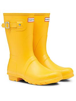 hunter-original-short-wellington-boot-yellow