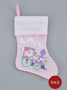 gisela-graham-babyrsquos-first-christmas-stocking-ndash-pink