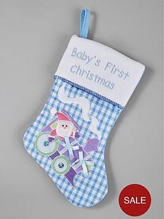 gisela-graham-babyrsquos-first-christmas-stocking-ndash-blue