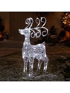 spun acrylic light up standing reindeer outdoor christmas decoration