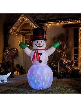 inflatable light up snowman outdoor christmas decoration littlewoodsirelandie