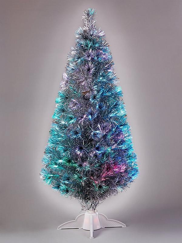 Fiber Optic Christmas Trees.5ft Silver Fibre Optic Christmas Tree