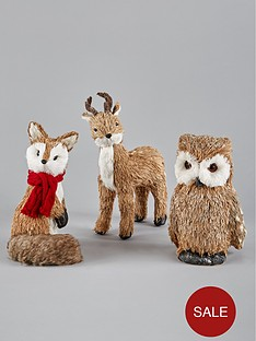 bristlenbspfox-reindeer-and-owl-woodland-animals-christmas-decorations-set-of-3