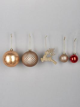 pack-of-50-luxe-christmas-tree-baubles-ndash-red-and-gold