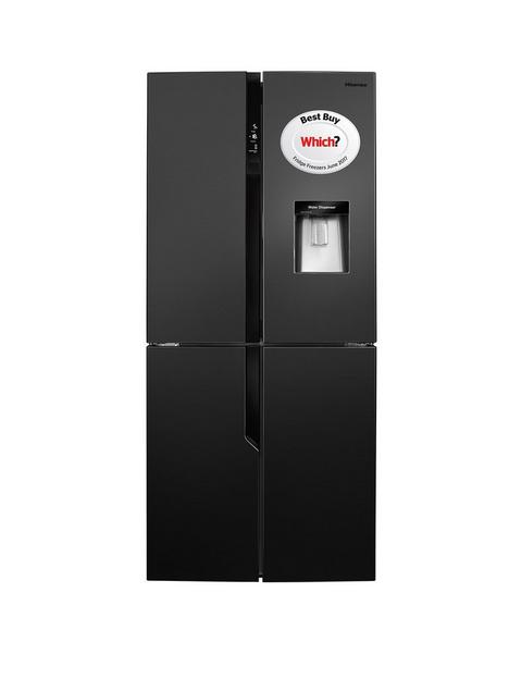 hisense-rq560n4wb1-79cm-wide-american-style-multi-door-fridge-freezer-with-water-dispenser-black