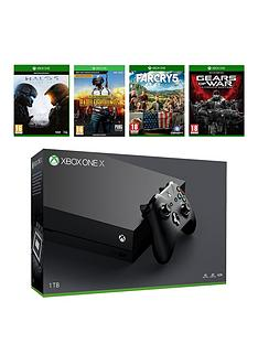 xbox-one-x-console-with-far-cry-5-playerunknowns-battlegrounds-halo-5-guardians-and-gears-of-war-ultimate-plus-optional-wireless-controller-andor-12-months-live-gold