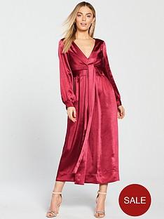 lost-ink-petite-petite-wrap-detail-midaxi-dress