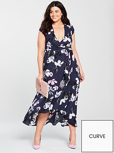 ax-paris-curve-high-low-hem-floral-maxi-dress-navy