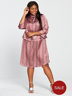 lost-ink-plus-shirt-dress-in-satin-stripe