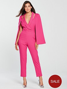 lavish-alice-lavish-alice-cape-blazer-tailored-jumpsuit-pink
