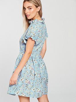 With Credit Card For Sale Visit New Sale Online AX Dress Print  Neck Blue Ditsy Petite Paris High 2018 Unisex For Sale Genuine For Sale WPDP99pGqj