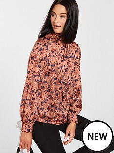 lost-ink-ditsy-print-tie-neck-blouse