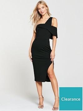 lavish-alice-one-shoulder-detail-midi-dress-black