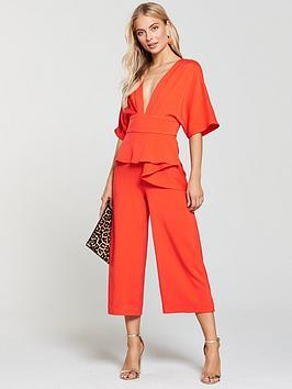 Lavish Alice Lavish Alice Kimono Sleeve Peplum Culotte Jumpsuit    littlewoodsireland.ie ba79015214