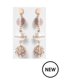 river-island-river-island-wrapped-pearl-diamante-earring