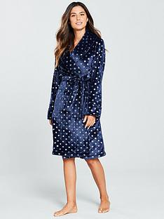 v-by-very-foil-print-dressing-gown-navynbsp