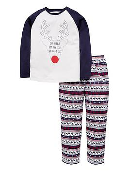 mini-v-by-very-unisex-oh-deer-im-on-the-naughty-list-family-christmas-pyjama