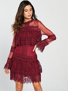 forever-unique-ruffle-layer-mini-dress-red
