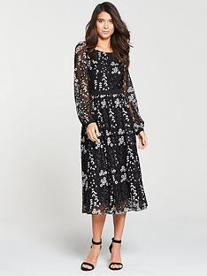 v-by-very-lace-midi-dress-mono