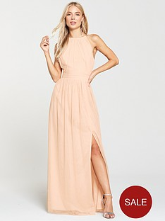 little-mistress-mesh-halter-neck-maxi-dress-nude