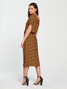 Loa Short Printed Dress Midi Moda Sleeve Vero Outlet W2y4jDphN