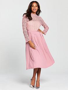 little-mistress-crochet-top-midi-dress-dusky-pink