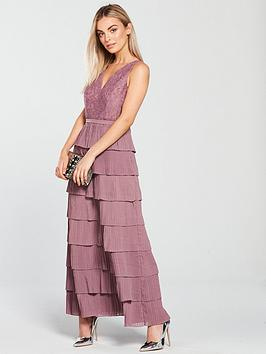 Petite Dress Rose Mistress Little  Tiered Lace Maxi Purchase Cheap Sale Outlet Locations Shop Cheap Price 8KyBpuijv