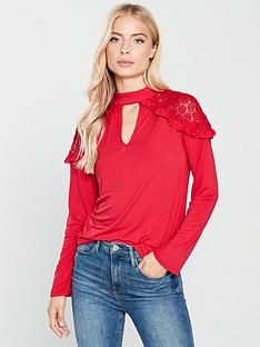 v-by-very-lace-shoulder-swing-top-red