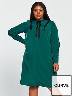 junarose-zapiaz-long-sleeve-below-knee-dress-green