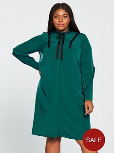 junarose-zapiaz-long-sleeve-below-knee-dress-green