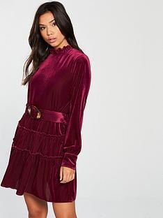 00656f427fea Vero Moda Noon Long Sleeve Belted Mini Dress - Rose