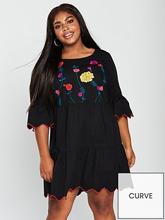 junarose-junarose-heva-34-sleeve-embroidered-tiered-dress
