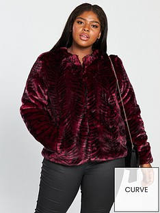 junarose-faux-fur-jacket-rumba-rednbsp