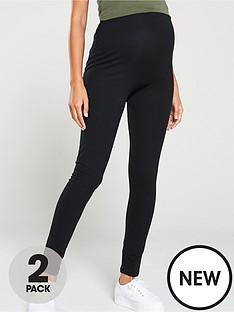 mama-licious-mamalicious-maternity-lea-2-pack-organic-cotton-legging