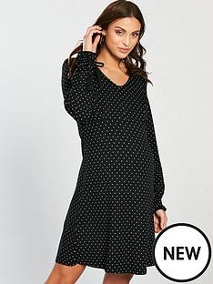 mama-licious-mamalicious-nursing-bitten-mary-polka-dot-jersey-dress