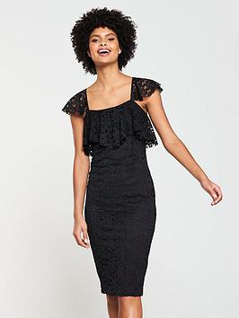v-by-very-square-neck-stretch-lace-pencil-dress-black