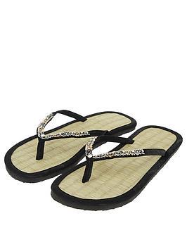 accessorize-chevron-beaded-seagrass-flip-flops-black