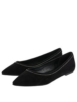 accessorize-stephanie-stud-point-flats-black