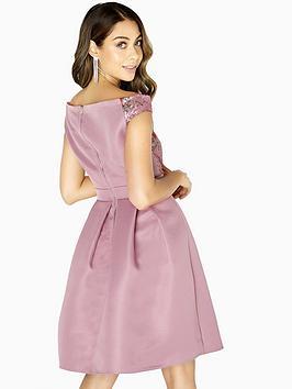 Exclusive Cheap Online Bardot Sequin Little Canyon Top Mistress Dress Skater  Rose Cheap The Cheapest a74jxUKRx
