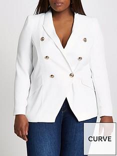 ri-plus-double-breasted-blazer-white