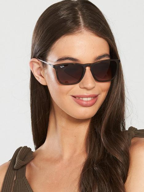 ray-ban-chris-square-sunglasses-rubber-havana